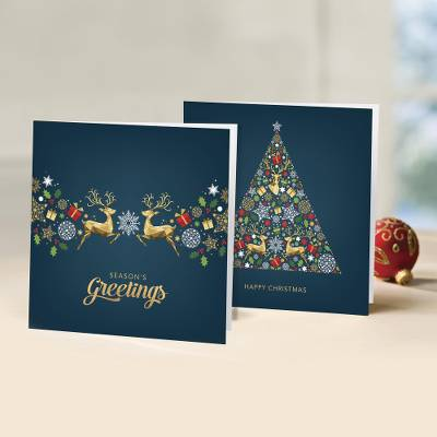 UNICEF holiday greeting cards, 'A Golden Touch' (set of 10) - UNICEF Holiday Cards Boxed Set of 10