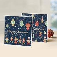 UNICEF holiday greeting cards, 'Party at the North Pole' (set of 10) - UNICEF Holiday Greeting Cards (Set of 10)