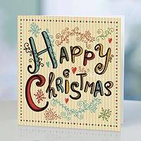 UNICEF holiday greeting cards, 'Happy Christmas' (set of 10) - UNICEF Holiday Greeting Cards (Set of 10)