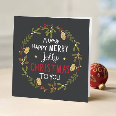 UNICEF holiday greeting cards, 'Chalkboard Wishes' (set of 10) - UNICEF Chalkboard Wishes Holiday Cards (Set of 10)