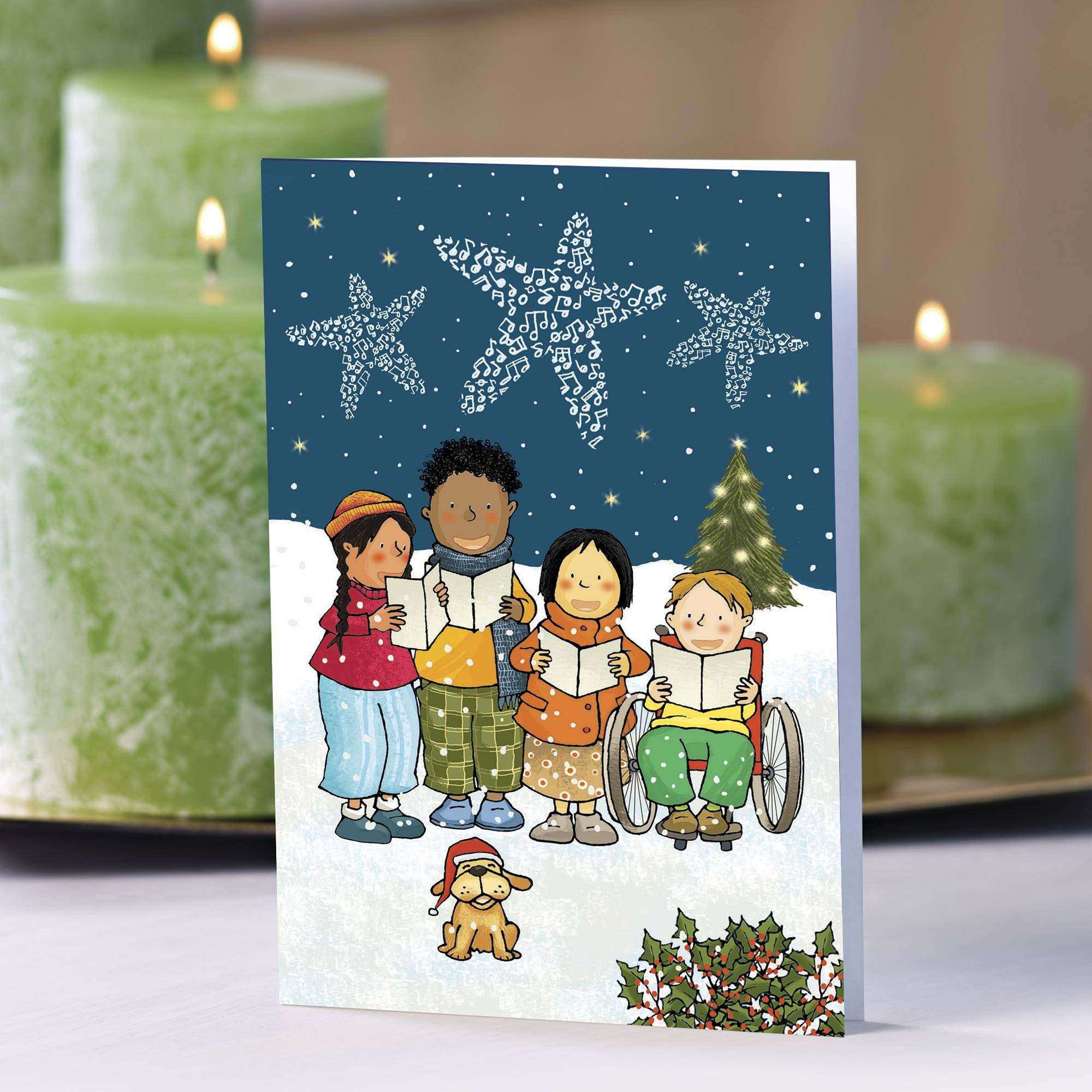 Unicef Christmas Cards.Unicef Caroling Children Holiday Cards Set Of 10 We Wish You A Merry Christmas