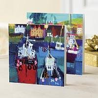 UNICEF greeting cards, 'Hebridean Harbor' (set of 10) - UNICEF greeting cards, 'Hebridean Harbor' (set of 10)