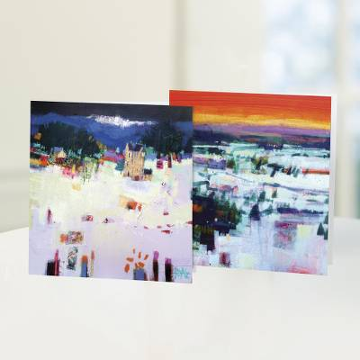 UNICEF holiday greeting cards, 'A Scottish Snowfall' (set of 10) - UNICEF greeting cards, 'A Scottish Snowfall' (set of 10)