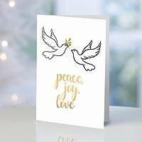 UNICEF holiday greeting cards, 'Peace, Joy, Love' (set of 10) - UNICEF Peace, Joy, Love Holiday Cards (Set of 10)
