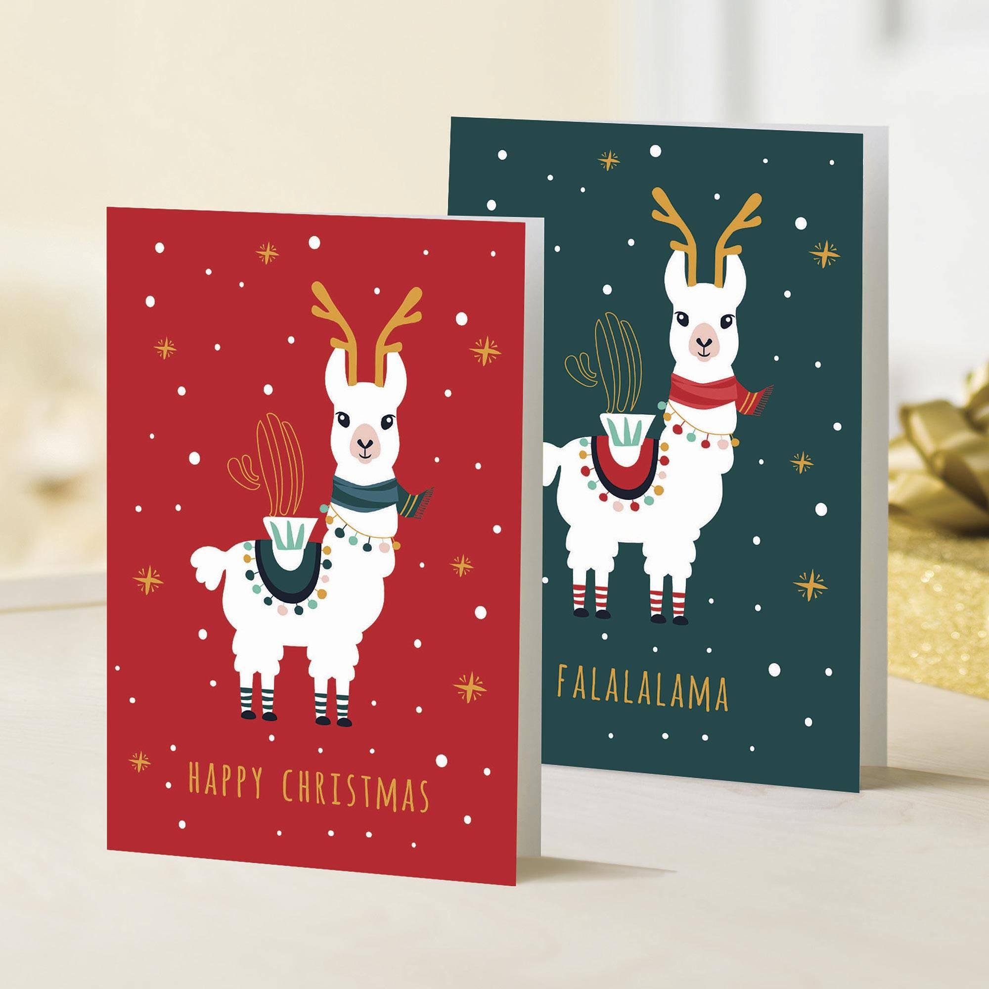 Unicef Christmas Cards.Unicef Holiday Cards With Llamas Set Of 10 Falalalama