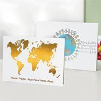 Unicef Christmas cards, 'Peace Around the World' (set of 10) - Unicef Christmas Cards Peace Around the World (Set of 10)