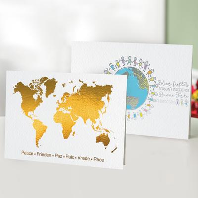 Unicef Christmas cards, 'Peace Around the World' (set of 10) - Unicef Christmas Cards Peace Around the World (Set of 10)