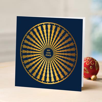 Unicef Christmas cards, 'The Season's Mandala' (set of 10) - Unicef Christmas Cards The Season's Mandala (Set of 10)