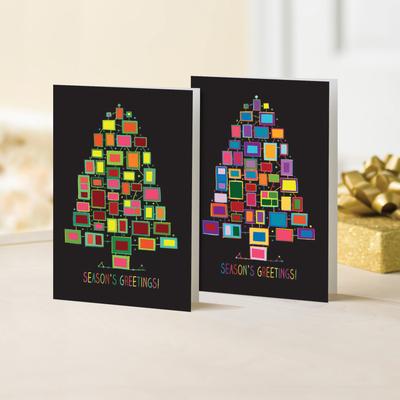 Unicef Christmas cards, 'Pop Art Trees' (set of 10) - Unicef Christmas Cards Pop Art Trees (Set of 10)