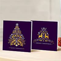 Unicef Christmas cards, 'A Golden Glow' (set of 10) - Unicef Christmas Cards A Golden Glow (Set of 10)