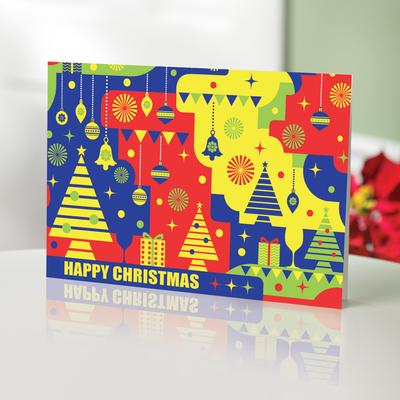 Unicef Christmas cards, 'Christmas Bright & Bold' (set of 10) - Unicef Christmas Cards Christmas Bright & Bold (Set of 10)
