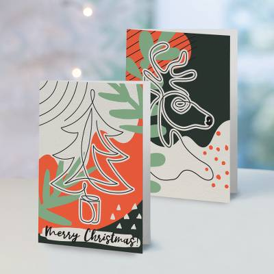 Unicef Christmas cards, 'Boldly Graphic' (set of 10) - Unicef Christmas Cards Boldly Graphic (Set of 10)