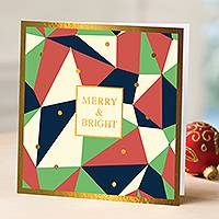 Unicef Christmas cards, 'Merry & Bright' (set of 10) - Unicef Christmas Cards Merry & Bright (Set of 10)