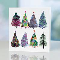 Unicef Christmas cards, 'A Painterly Touch' (set of 10) - Unicef Christmas Cards A Painterly Touch (Set of 10)