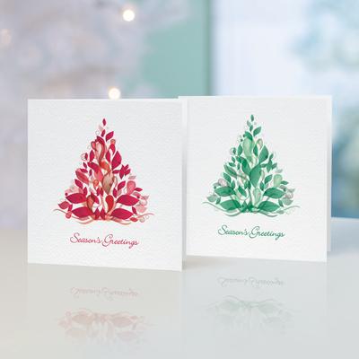Unicef Christmas cards, 'Stylish Trees' (set of 10) - Unicef Christmas Cards Stylish Trees (Set of 10)