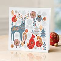 Unicef Christmas cards, 'The Animals of the Forest' (set of 10) - Unicef Christmas Cards The Animals of the Forest (Set of 10)