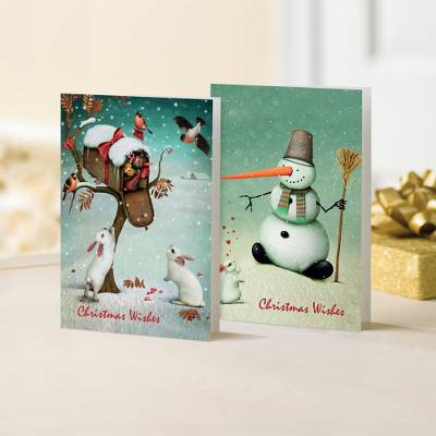Unicef Christmas cards, 'The Rabbits & the Snowman' (set of 10) - Unicef Christmas Cards The Rabbits & the Snowman (Set of 10)