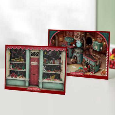 Unicef Christmas cards, 'A Christmas Shop' (set of 10) - Unicef Christmas Cards A Christmas Shop (Set of 10)