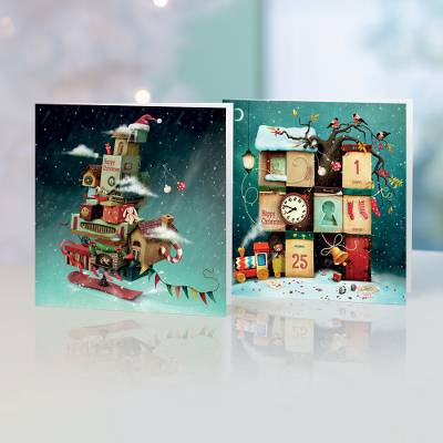 Unicef Christmas cards, 'The Countdown' (set of 10) - Unicef Christmas Cards The Countdown (Set of 10)