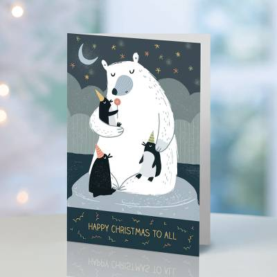 Unicef Christmas cards, 'Merry Christmas to All' (set of 10) - Unicef Christmas Cards Merry Christmas to All (Set of 10)