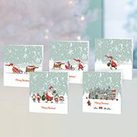 Unicef Christmas cards, 'Father Christmas' Journey' (set of 10) - Unicef Christmas Cards Father Christmas' Journey (Set of 10)