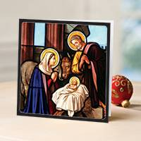 Unicef Christmas cards, 'A Manger in Bethlehem' (set of 10) - Unicef Christmas Cards A Manger in Bethlehem (Set of 10)
