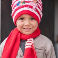 Warm clothing for a Syrian child  - Warm winter clothing for a Syrian child