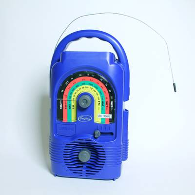 Solar Powered Wind-Up Radio - Solar Powered Wind-Up Radio