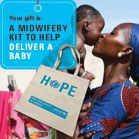 A midwifery kit to help deliver a baby - A midwifery kit to help deliver a baby