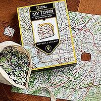 Customized USGS map jigsaw puzzle, 'My Town' - Unique Customized Jigsaw Puzzle of Map of Your Town