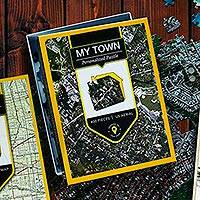 Customized aerial jigsaw puzzle, 'My Town' - Customized Aerial View Jigsaw Puzzle of Your Town