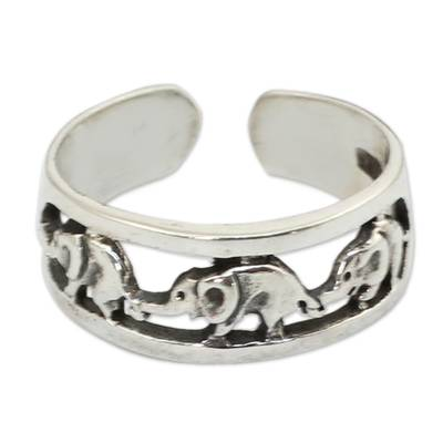 Sterling silver toe ring,
