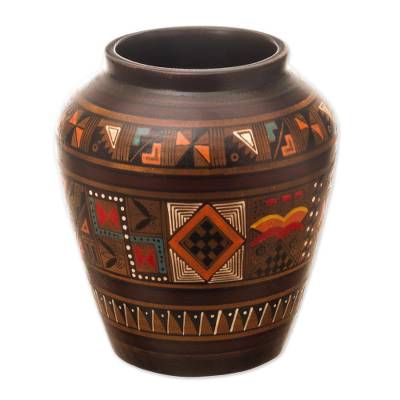 Collectible Ceramic Cuzco Vase