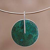 Chrysocolla choker, 'Magic Circle'