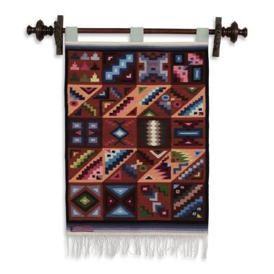 Collectible Geometric Wool Tapestry Wall Hanging