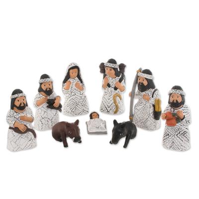 Christmas Amazonian Nativity Scene Sculptures (Set of 9)