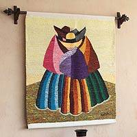 Wool tapestry, 'Women from the Countryside'