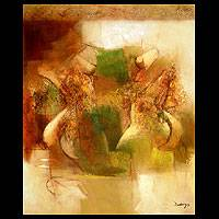'Daydream Women' (2005) - Painting Abstract Art from Peru
