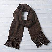 100% alpaca scarf, 'Nightland'