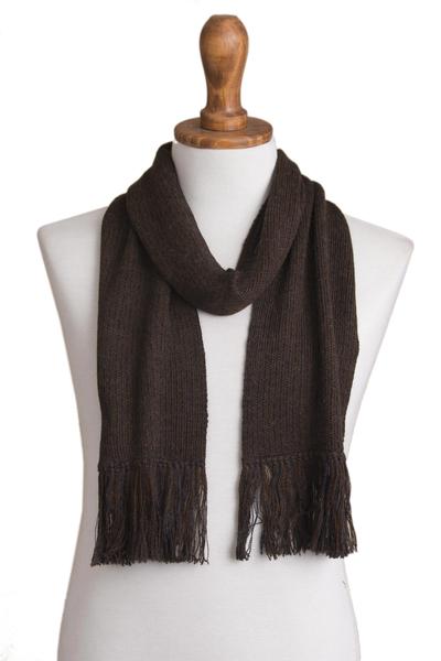100% alpaca scarf, 'Nightland' - 100% alpaca scarf