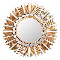 Mirror, 'Sun Princess' - Fair Trade Hollywood Glam Wall Mirror