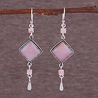 Opal earrings, 'Rose Legacy'