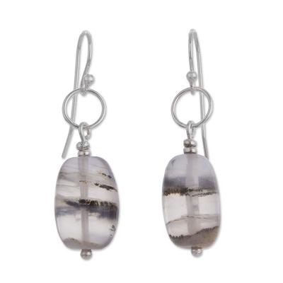 Opal dangle earrings, 'Secrets' - Opal dangle earrings