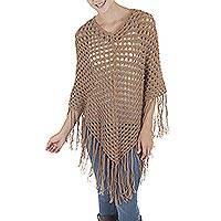 100% alpaca poncho, 'Desert Dream'