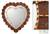Mirror, 'Sweetheart' - Glass Reverse Painted Heart Wall Mirror (image 2) thumbail