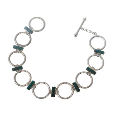 Chrysocolla link bracelet