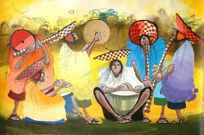 'Gold' - Songs of Peru Fine Art Painting