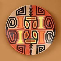 Ceramic plate, 'Inca Weavings'