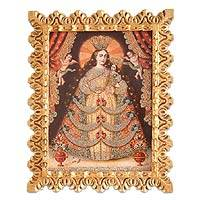 'Virgin of the Rosary' - Cusco Style Oil Painting