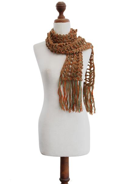 100% alpaca scarf, 'Diagonal Mixtures' - 100% alpaca scarf